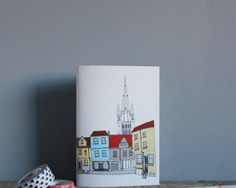 Norwich Notebook - A5 Recycled Notebook -  Eco Book - Recycled Paper - Norwich Cityscape - Norwich Journal - Sketchbook
