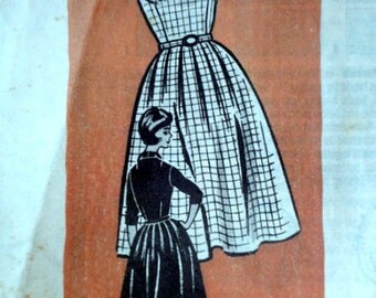 Vintage 60's 9036 Mail Order Sewing Pattern, Misses' Day Dress, Size 14, 34 Bust, 1960's Fashion