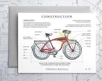 Project Bicycle / Bike - Architecture Construction Card