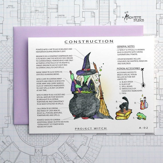 Project Witch - Blank Architecture Construction Card