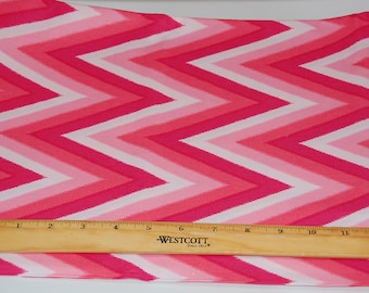 Color Me Happy Pink Chevron fabric by Vanessa Christenson of V and Co for Moda Quilters Cotton