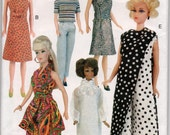 "Sewing Pattern Circa 1968 Clothes for 11.5"" Fashion Doll, UNCUT, Vogue 7330"