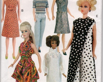 """Sewing Pattern Circa 1968 Clothes for 11.5"""" Fashion Doll, UNCUT, Vogue 7330"""