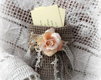 Set of 10 Bible Promises in Shabby Gift Bag Encouragement Scriptures Christian Wedding Favor or Wedding Gift Christian Inspiration