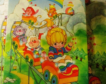 1983 Complete Rainbow Brite Jigsaw Puzzle - Rollercoaster
