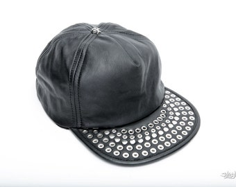 SNAPBACK Leather Studded Hat