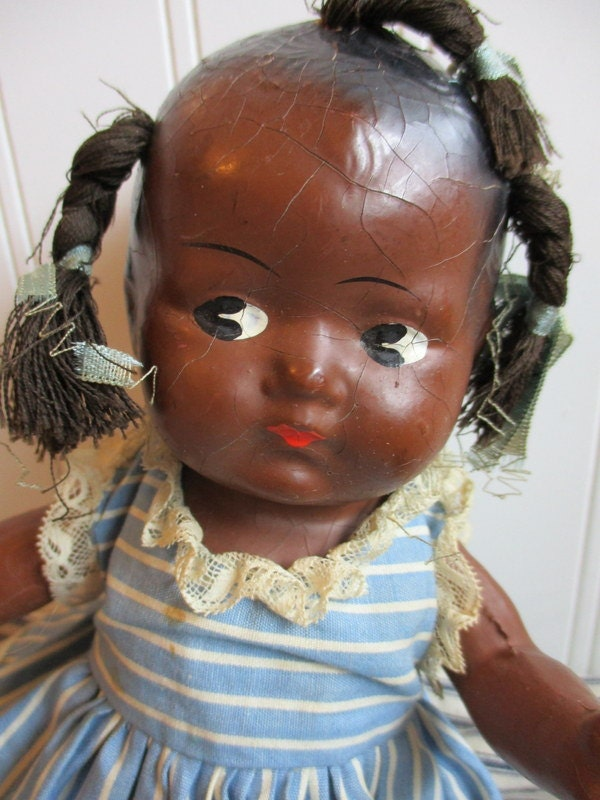 Vintage Black Baby Doll 108