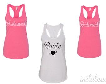 Custom Color Bridesmaid Party Tank Tops Bridal Party