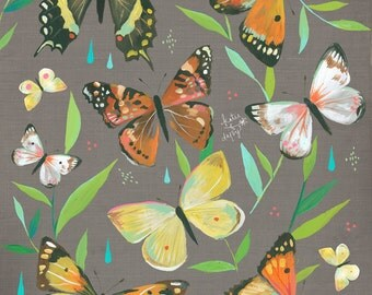 Butterfly Garden art print | Nature Decor | painting | Katie Daisy