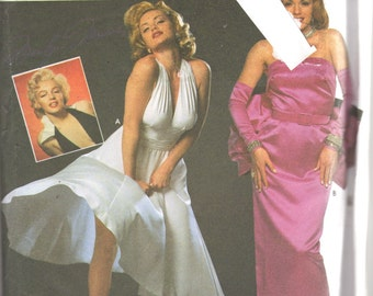 Simplicity 8393 MARILYN MONROE Costume Pattern 7 Year Itch Dress Gentlemen Prefer Blonds Womens Sewing Size 4 6 8 Bust 29 30 31 Or 10-14 UNC