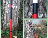 Red and Black Anasazi Style Flute in A
