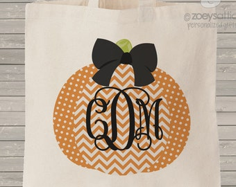 Monogram  trick or treat halloween bag simple and clean use year after year MBAG1-038