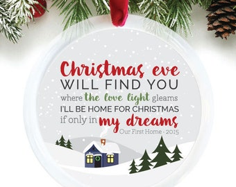 Our First Home Ornament, Michael Buble Christmas Song, New Home Christmas Ornament, Housewarming Gift Idea, Newlywed Gift // C-P90-OR ZZ2