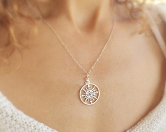 Compass necklace, Graduation gift, compass jewelry, Friendship necklace, best friends gift, 2016 graduate gift, find your true north,