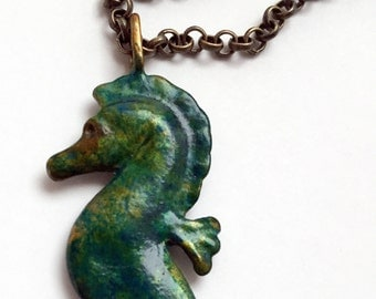 Seahorse in Turquoise Sea
