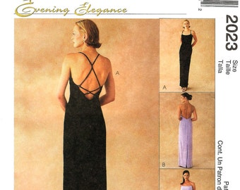 Formal Dress Pattern -Evening Elegance McCalls 2023 - Uncut OOP Sewing Pattern Size Groups 4 -6 -8