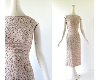 50s Lace Dress | Interlude | 50s Cocktail Dress | 1950s Dress | XS