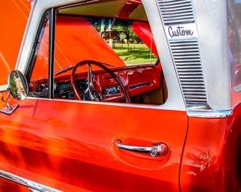 1966 Chevrolet C10 Pickup Truck Photography, Automotive, Auto Dealer, Classic, Muscle, Truck, Mechanic, Boys Room, Garage, Dealership Art