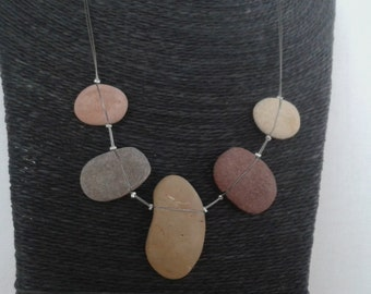 Lowest point on earth pebble art jewellery, Jordan, Dead Sea
