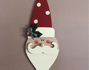 "18"" Long curly bearded personalized Santa"