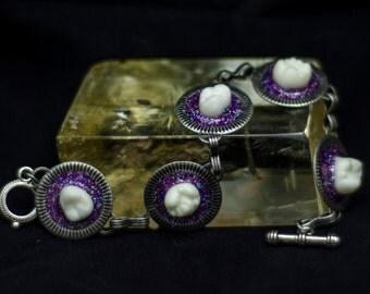 Shimmering Amethyst Bracelet