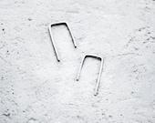 Minimal Silver Earrings / Mini Silver Earrings / Modern Earrings