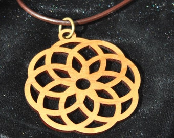 Cherry Lotus Flower Necklace