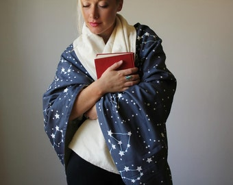 Galaxy Throw, Organic Throw, Throw Blanket, Organic Blanket, Personalized, Gift for Mom, Mother's Day