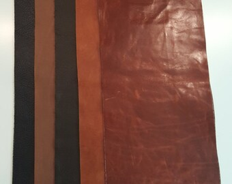 """9""""x23"""" Full Grain Leather pieces Mixed lot Bellagio"""