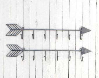 Metal Arrow Wall Decor, Wall Hooks, Black Wall Hook, Vintage Style Coat Hook, Vintage Wall Hooks,  Wall Hooks