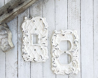 Outlet Cover, Iron Home Decor, Cast Iron Decor, Victorian Home, Romantic Home,  Kitchen Accent, Romantic Home, Style 123