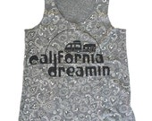 SALE! Womens Cali DREAMIN - Alternative Apparel Bandana Racerback Tank Top S M L XL
