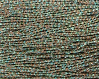 10/0 Aged Matte Opaque Navajo Turquoise Picasso Mix Czech Glass Seed Beads 6 Strand Hank (AW301)