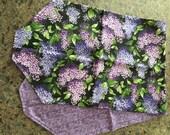 Purple Hydrangea table runner.
