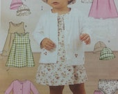 Butterick 3782 Babies Infants Jacket Dress Panties and Hat Pattern Stretch Knits Baby Pattern