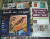 Create with Transfer Artist Paper - Lesley Riley Paperback AND Transfer Sheets