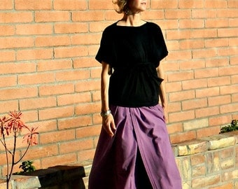 Long Skirt-Maxi Skirt-Maxi Skirt Boho-Boho Skirt-LaChicSewEasy to Wear Chloe Maxi-Womens Clothing Staple-Cozy Flannel-Many Body Sizes
