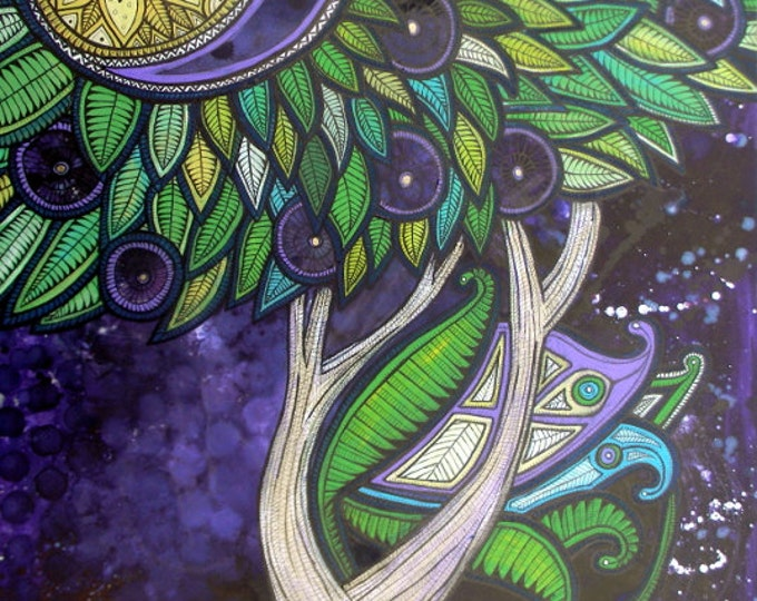 Original Tree of Life painting by Lynnette Shelley