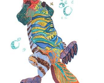 Otter Print Giclee Print Otter Art Otter Wall Art Otter Decor Otter Art Print Otter Home Decor Animal Art Print