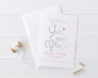 Our Ever After Custom Wedding Invitation Set