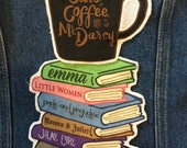 Cats, Coffee, Mr. Darcy mug Patch Pride and Prejudice Jane Austen