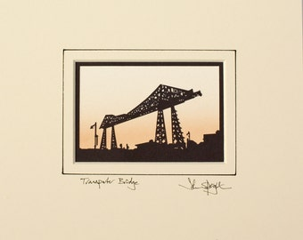 Transporter Bridge (Middlesbrough UK) Hand-Cut Papercut