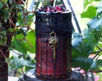 "MORRIGAN Raven Warrior Goddess ""Old European Witchcraft""™ ""Fusion Magic""™ Pillar Candle"
