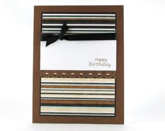 Masculine birthday card, husbands birthday, mens birthday, mans birthday, boys birthday