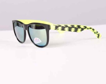 vintage 1990s sunglasses neon + black wayfarers surfer style 1980s new old stock unisex