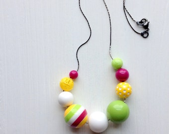 arcade - necklace - remixed vintage lucite