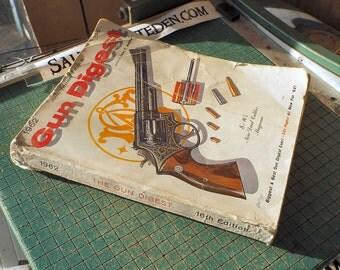 1962 Gun Digest, 16th Annual, bonus Civil War catalog, paperback, Historical Articles