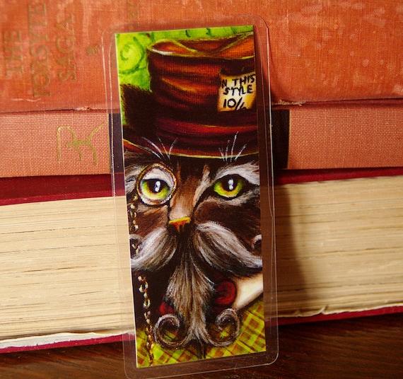 Mad Hatter Cat Bookmark Alice in Wonderland Cat Bookmark
