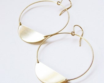SALE Crescent Moon Gold Earrings