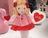 Vintage Inspired SuGaR SwEeT Valentine Paper Doll Kitschy Keepsake BE MINE VALENTINE